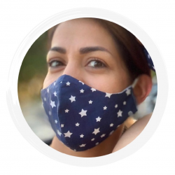 Starry Navy - 100% Cotton Washable Mask