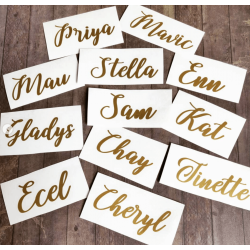 Custom Vinyl Name Decals/Stickers