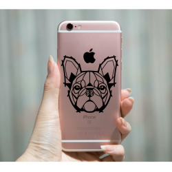 Geometric Bull Dog Vinyl Decal/Sticker