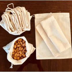 Cotton Produce Bags - Small (Set of 5)