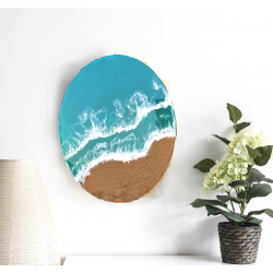 Resin Art Beach Themed Wall Art