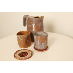 Set of 4 Tumblers with Jug