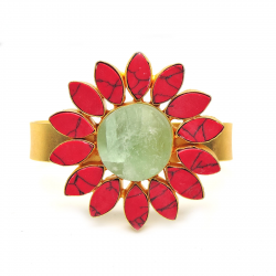 Bhatti Stone, Green Fluoride Bracelet