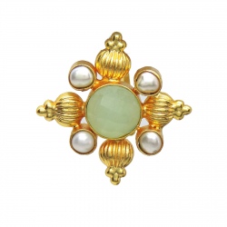 Chalcedony, Pearl Ring
