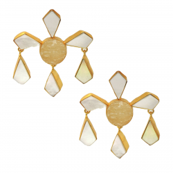 Citrine, Mother of Pearl Earrings