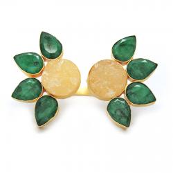 Emerald, Citrine Ring