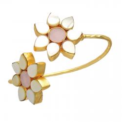 Mother of Pearl, Rose Quartz Bracelet