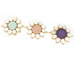 Multi Color Raw Stones, Mother of Pearl Necklace