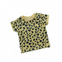Mustard Lynx Dots T-shirt