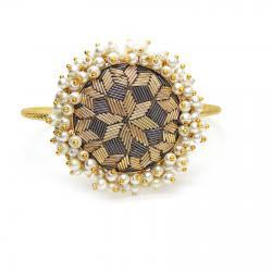 Pearl, Zardosi Embroidery Bracelet