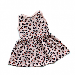 Pink Lynx Dots Dress