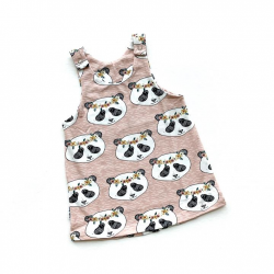 Pink Panda Pinafore Dress