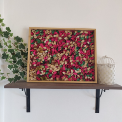 Shocking Pink Rustic Potpourri Wall Frame (Vertical or Horizontal mounted)