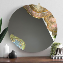 Geode Style wall Mirror