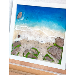 3D Resin Beach Wall Art