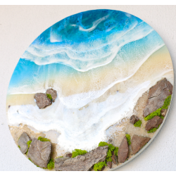 40 Cm Resin Beach Wall Art