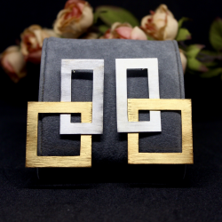 Geometric 5 - Silver Earrings and Rings Set