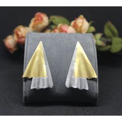 Geometric 9 - Silver Earrings
