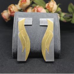 Geometric 8 - Silver Earrings