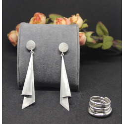 Geometric 6 - Earrings and Ring Set