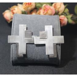 Geometric 7 - Silver Earrings