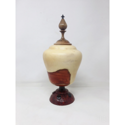 Wood Turning Hollow Lidded Vessel