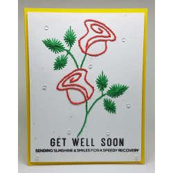 Stitched Card - Get Well Soon