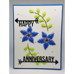 Stitched Anniversary Card