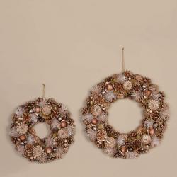 Brown White Wreath