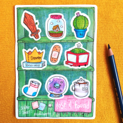 Lost & Found Shelves - Sticker Sheet