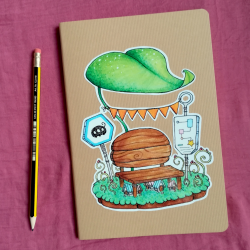 Bus Stop - A5 Notebook