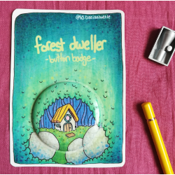 Forest Dweller - Button Badge