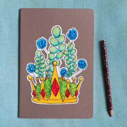 Fallen King - A5 Notebook