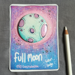 Full Moon - Button Badge
