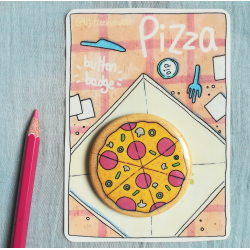 Pizza - Button Badge
