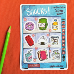 Snacks Vending Machine - Sticker Sheet