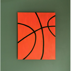 Basketball Wall Art Canvas - Boys Bedroom Decor (Medium)