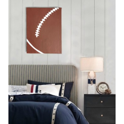 Rugby Wall Art Canvas - Boys Bedroom Decor (Medium)