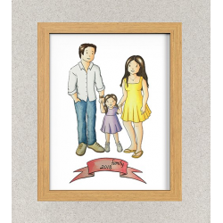 Custom Family portrait(3 People) - Personalized Family gift