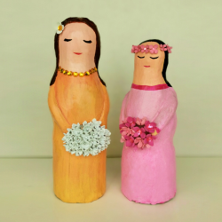 Handmade & Handpainted Flower Girl Figurine - Home Decoration