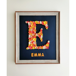Flower Letter Personalized Frame - Girls Bedroom Décor (Large)