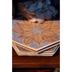 Handmade Hexagon Pottery Plate