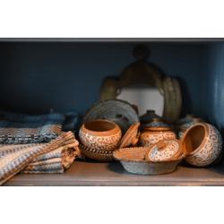 Handmade Pottery Sugar Bowl