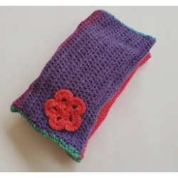 Crochet Diaper and Wipes Pouch