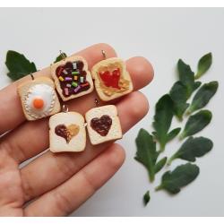 Polymer Clay Handmade Toast Charm