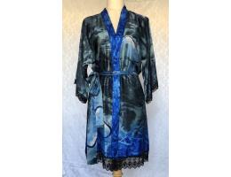 Aquamarine Silk Lounge/Night Robe