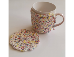 Crochet Mug Cozy & Coaster Set
