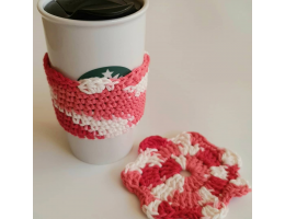 Crochet Mug Cozy And Coaster Set