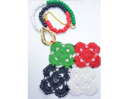 UAE Flag Crochet Rounds Necklace