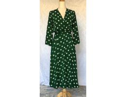 Polka Dots Silky Wrap Dress